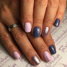 Pink blue and silver