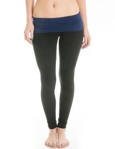 Casual Cotton Spandex Fold Over Waist Leggings http://pins.getfit2gethealthy.com/pinnable-post/casual-cotton-spandex-fold-over-waist-leggings-junior-sizing-juniors-large-blacknavy