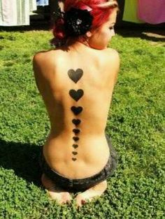 Hearts up her Spine