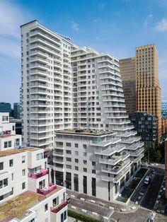 Intermezzo, Amsterdam Zuidas. By Inbo #highurbanliving #urbanliving #highrise #balconies #luxuryliving
