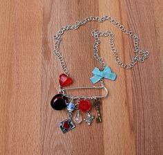 Charm Necklaces – Alice and Me - Kilt Pin Necklace – a unique product by WensanteSparkles on DaWanda