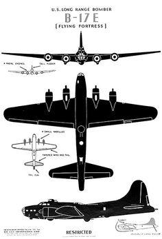 WW2 - aircraft id card, B-17 by x-ray delta one, via Flickr