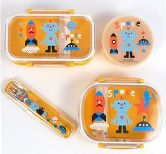 Robot bentos and lunch containers for kids. Ours love these.