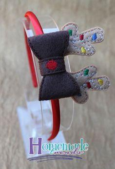 Navidad Reno diadema arco-Navidad Reno Navidad por HomemadeTrends