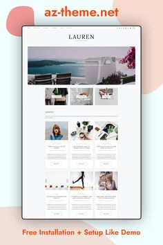 Lauren – Clean & minimal blog! Easy installation allows you to start post blogs immediately after the activation. Theme supported Customizer which allows you to customize and change design of your blog. Perfect choice for your personal blog, corporate blog, marketing blog, authority blog or any type of creative blog.