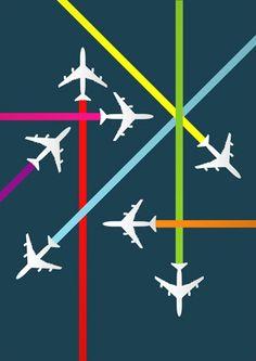 Flight path print