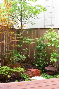ハードウッド製の目隠しフェンスを設置。リビングから庭へ空間がつながり、家族がくつろぐ空間へ Aquarium, Plants, Goldfish Bowl, Aquarium Fish Tank, Plant, Aquarius, Planets, Fish Tank