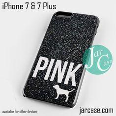 Black Glitter Victoria's Secret Phone case for iPhone 7 and 7 Plus