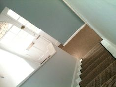 Bright hall way. My hubby says I always go for duck egg blue!