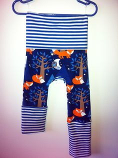 Night Fox Monkey Bum Pants by BareNecessitiesKids on Etsy