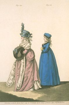 Gallery of Fashion, Figures 124 and 125, January 1797