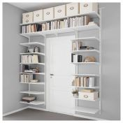 IKEA - ALGOT, Wall upright/shelves, white, The parts in the ALGOT series can be combined in many different ways and easily adapted to your needs and space. Can also be used in bathrooms and other damp indoor areas. Ikea Algot, Ikea Organization, Ikea Storage, Ikea Bedroom Storage, Organizing, Ikea Small Bedroom, Easy Storage, Trendy Bedroom, Storage Ideas