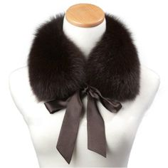 Genuine Fox Fur Collar Scarf Shawl Wrap Neck Warmer