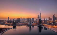 UAE Dubai Skyscrapers Sunset Wallpaper http://beyondhdwallpapers.com/uae-dubai-skyscrapers-sunset-wallpaper/ #Travel #World #Wallpapers #Wallpaper #HD #Sunset #Dubai #UAE #HighDefinition #Backgrounds