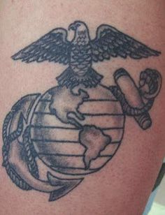 U.S Marine tattoo