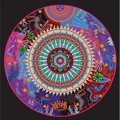 Nierika - Huichol Mandala ~ by Carlos Adampol Galindo