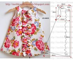 6bec941406a Baby and Girls Dress Pattern  Ruffled Chemise PDF by AestheticNest
