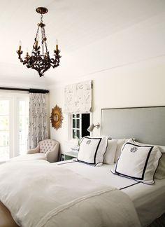 Bedroom : Marcus Design: {house tour: marlien rentmeester} #monogram #white #interior