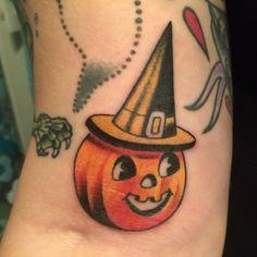 vintage halloween tattoo