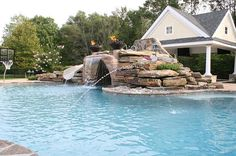 Above ground pool waterfall
