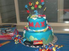 Maxes Thomas the Train Party Thomas The Train Birthday Party, Trains Birthday Party, Train Party, Birthday Cake, Mickey Thomas, Train Cakes, Cupcake Cakes, Cupcakes, Birthdays