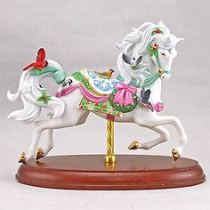 Carousel Statues:  Christmas Carousel Horse Figurine by Lenox