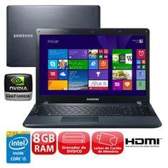 Extra Notebook Samsung ATIV Book 2 270E5J-XD1 i5-4210U 8GB 1TB Placa Gráfica de 2GB - R$ 2.249,00