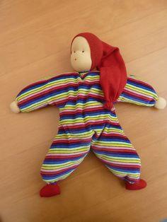 Nähanleitung Schlenkerpuppe - Nähen, Puppe Kinder, Geschenk zur Geburt, Baby