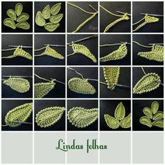 crochet leafs.
