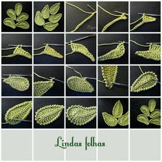 Crochet leaves (folhas), Irish Crochet leaves Snejana..How do I translate the liveinternet.ru site?