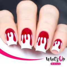 Whats Up Nails äóñ Dripping Nail Stencils Stickers Vinyls for Nail Art Design Sheets, 72 Stencils Total) * You can find more details by visiting the image link. Drip Nails, Acrylic Nails, Polygel Nails, Manicures, Metallic Nail Polish, Gel Polish, Nail Stencils, How To Cut Nails, Nail Tape