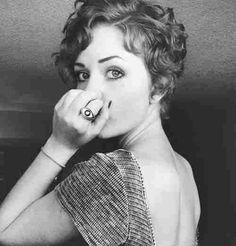 Curly/vintage pixie