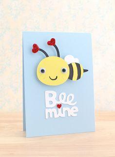 Crafting Confessions: Bee mine created using @Cricut®® goodies. #punny #cricut #Valentine