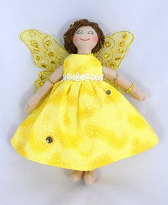 Sunshine Fairy Doll  One of a Kind Doll  For Kids or Adults