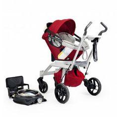 Orbit Baby Stroller Travel System G2 (Infant Car Seat + Car Seat Base + Stroller Frame G2): Ruby/Slate $900