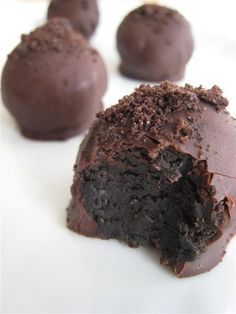 Oreo Truffle (I've read about using Girl Scout Thin Mints, too. Ordering extra Thin Mints next year!)