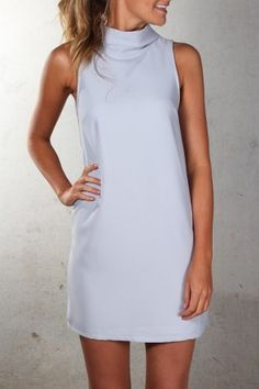 Swing Dress Blue Grey $49.00 Shop ll http://www.jeanjail.com.au/ladies/swing-dress-blue-grey.html