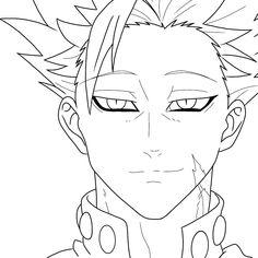 Naruto Sketch Drawing, Anime Boy Sketch, Naruto Drawings, Anime Drawings Sketches, Otaku Anime, Anime Naruto, Manga Anime, Seven Deadly Sins Anime, Anime Lineart