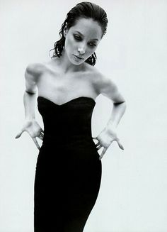 """Nero"" Christy Turlington shot by Mario Sorrenti for Vogue Italia 1995"