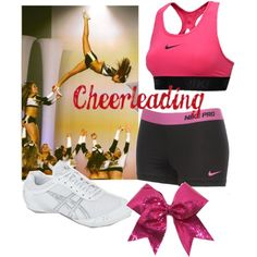 A fashion look from August 2013 featuring nike activewear, pink activewear and laced shoes. Browse and shop related looks. Cheer Practice Outfits, Cheer Outfits, Cute Swag Outfits, Sport Outfits, Cheer Clothes, Comfy Clothes, Cheer Stunts, Cheerleading Outfits, Varsity Cheer