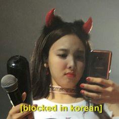 Image about kpop in nayeon memes by chrollo on We Heart It Blackpink Memes, Funny Kpop Memes, Meme Faces, Funny Faces, K Pop, Twice Fanart, Chaeyoung Twice, Nayeon Twice, Twice Kpop