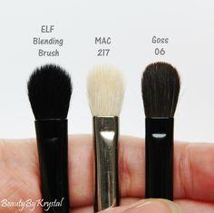 Beauty By Krystal: ELF Studio Mischpinsel – Rückblick - make up room studio Elf Makeup Dupes, Drugstore Makeup, Makeup Brushes, Makeup Tricks, Makeup Kit, Makeup Ideas, Kiss Makeup, Love Makeup, Beauty Dupes