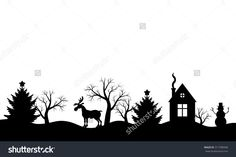 stock-vector-vector-illustrations-of-christmas-silhouette-winter-landscape-317780948.jpg (1500×1000)