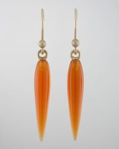 Small Carnelian Rice Earrings by Ted Muehling at Bergdorf Goodman.