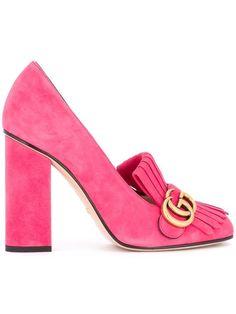 GUCCI fringed pumps. #gucci #shoes #pumps