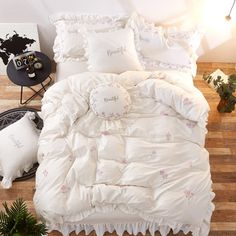 Subcategory: Home Textile. White And Pink Bedding, Pink Bedding Set, Girls Bedding Sets, Cheap Bedding Sets, Cotton Bedding Sets, Ruffle Bedding, Bed Linen Sets, Cotton Duvet, Pink White