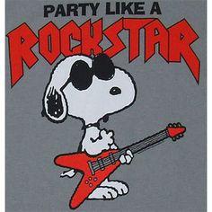 Party Like A Rockstar - Snoopy - Peanuts Sheer T-shirt - MyT ...