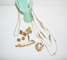 Vintage Golden Jewelry Collection by CheekyVintageCloset on Etsy, $28.00