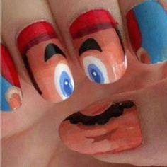 Super Mario Finger Nail Polish - SO AWESOME!!!