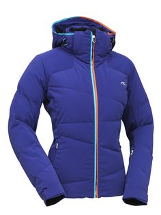 #KJUS Savy Down - Premium goose down on the front and back of the jacket with Primaloft on the sides keeps the woman in this jacket looking thin versus traditional puffy coats that leave you looking like the Stay Puff Marshmallow man